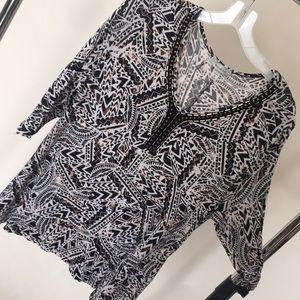 Dress barn plus size blouse 3/4 sleeve